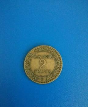 Монета Франция 2 Франка 1925