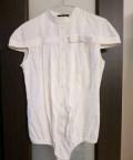 Рубашка боди белая patrizia pepe, платье 42-44 черное хлопок, Москва
