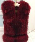 Свадебное платье цвета дымчатого айвори, меховая жилетка, Красная Яруга