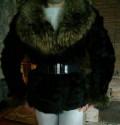 Женская одежда больших размеров олси, шуба(полушубок) натуральная, Новоаннинский
