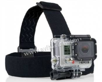 Крепление-ремень на голову нескользящее для GoPro
