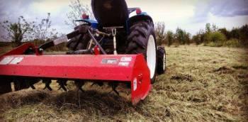 Покос травы Минитрактором
