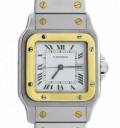 Часы Cartier Santos из стали с золотом, Большевик