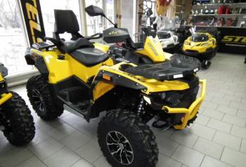 Квадроцикл Stels ATV 650 guepard Trophy, прицеп для снегохода