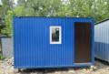 Бытовка строительный вагончик синий (2, 4х4м), Болотное