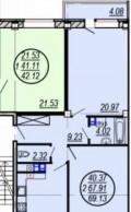 2-к квартира, 69. 1 м², 6/10 эт, Ярославль