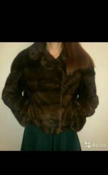 Пуховик с мехом женский, курточка норковая