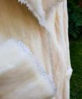 Платье шифон с бархатом, шуба норковая(белая) авторская работа, Звенигород