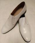Туфли офицерские парадные белые (кожа), мужская обувь зима 47 размера, Ливадия