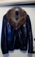 Кожаная мужская куртка, хэллоуин костюм для пары, Красное-на-Волге