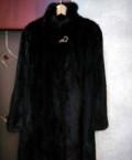 Шуба норковая, зимнее пальто с мехом внутри и капюшоном, Нижнекамск