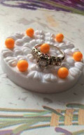 Кольцо с бриллиантами из белого золота, Саратов