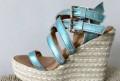 Китайский интернет магазин обуви наложенным платежом, новые итальянские сандали босоножки на танкетке 39, Казань