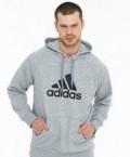 Мужские шубы енот, олимпийка (Толстовка) adidas серая, Барнаул