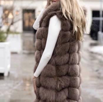 Одежда больших размеров для женщин недорогая с доставкой, песцовая Жилетка высшего качества