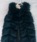 Костюм для лыжных прогулок женский большого размера, меховая жилетка, Калининград