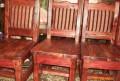 Комплект стол, лавка и 4 стула, Губкин