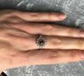 Кольцо (перстень) серебряное 16, 5, Красный Октябрь
