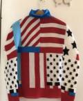 Блуза символ американского флага issey miyake ориг, купить женский пуховик дизель, Владивосток