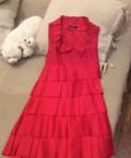 Платье дизайнерское шелковое красное Dasha Gauser, одежда больших размеров для женщин интернет магазин пышная красавица, Москва