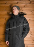 Пуховик TNF, теплый, темно серый, размер L, купить свитер мужской полицейский, Сузун