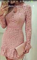 Вязаное платье с высоким горлом, платье кружево новое, Пошехонье