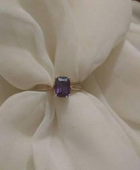 Кольцо серебро аметист