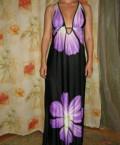 Белое кружевное платье большого размера, сарафан летний макси. р XL, Дрезна