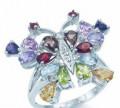Кольцо из серебра 925 с натуральными камнями, Уссурийск
