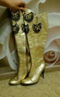 Сапоги высокие натуральная кожа, ортопедическая обувь под заказ, Тула