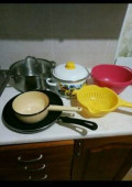 Посуда, кострюли, сковородка, доска, дуршлаг, тази, Тверь