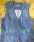 Colin's жилет джинса, рубашка под запонки zara, Нижний Новгород