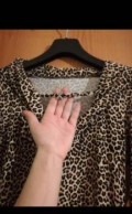 Одежда в магазине спортмастер, леопардовое платье-туника, Тюмень