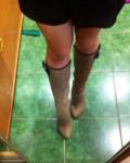 Сапоги демисезонные, купить светлые сапоги осенние женские кожаные распродажа, Омск