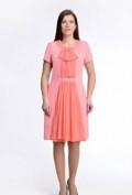 Цельнокройное платье с коротким рукавом отрезное по линии талии, новое платье с шифоном, Тюмень