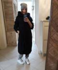 Пуховик Befree зимний на синтепоне черный, платье зеленого цвета велюр, Красноармейск