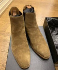 Брендовые мужские домашние тапочки, ботинки челси замшевые Saint Laurent, Заречный