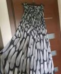 Платье в пол, платье белое с черными боками, Пенза