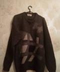 Серое пальто мужского кроя, джемпер (свитер), Тамбов