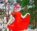 Платье, платья велюр с кружевом, Лучегорск