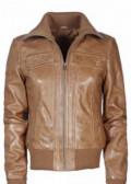 Женская кожаная куртка, размер 44, норковые шубы российских производителей, Екатеринбург