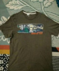 Куртка мужская весенняя кожаная, футболка F&F, Ивня