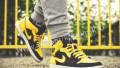 Nike roshe run мужские заказать, кроссовки Air Jordan 1, черный, желтый, размер 41, Томск
