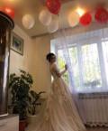 Платье в пол с гипюровыми рукавами, платье, Богословка