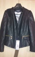 Новая куртка кожзам, черная шелковая пижама женская, Бохан