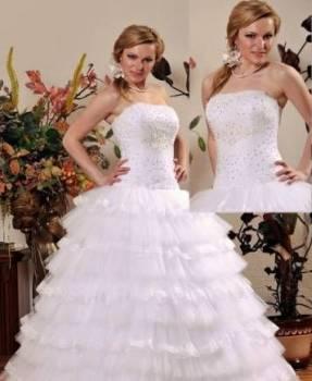 Новое свадебное платье, халат женский рабочий смесовый