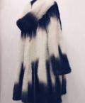 Платье из льна в клетку, шуба норковая, Маслова Пристань