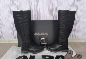 Кожаные сапоги alba, купить зимнюю женскую обувь распродажа