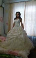 Продам свадебное платье-новое, платье в пол на лямках, Ставрополь