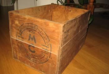 Ящик упаковка масло сыр 1977г дерево
